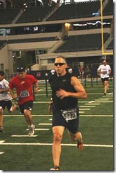 Kicking it to the finish of the America's Run 5K